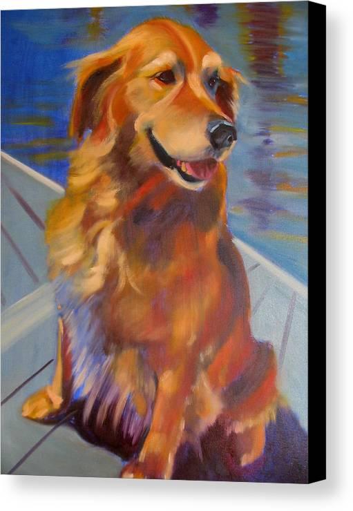 Golden Retriever Canvas Print featuring the painting Sasha by Kaytee Esser