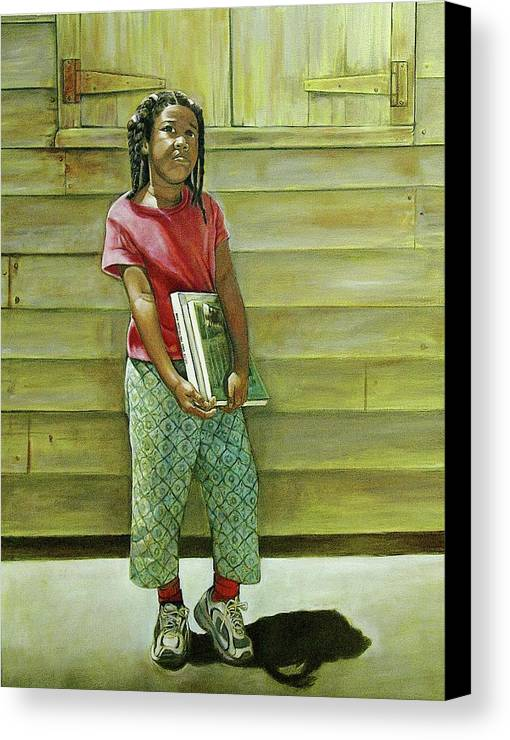 Kids Canvas Print featuring the painting School Daze by Curtis James
