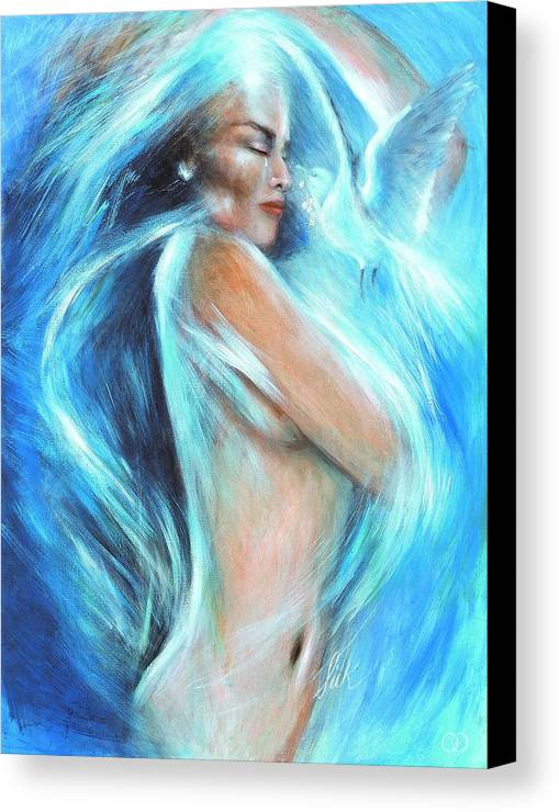 Vision Canvas Print featuring the painting Self Love by Elizabeth Silk