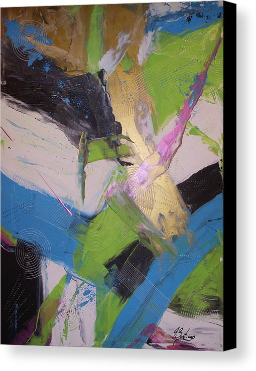 Original Canvas Print featuring the painting Sentirme Vivo - To Feel Alive by Joey Santiago