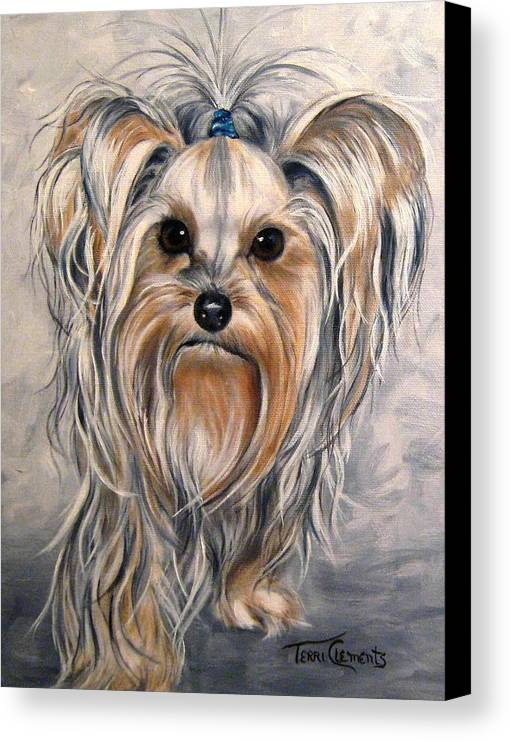Dogs Canvas Print featuring the painting Snoopy by Terri Clements