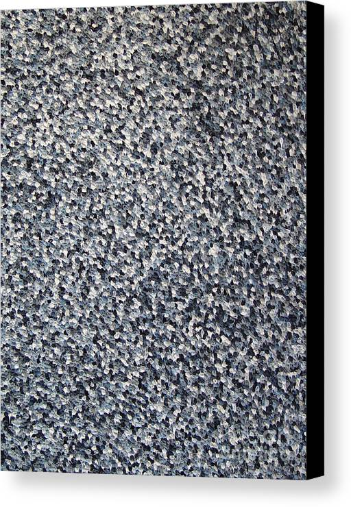 Abstract Canvas Print featuring the painting Soft Grey Scale by Dean Triolo