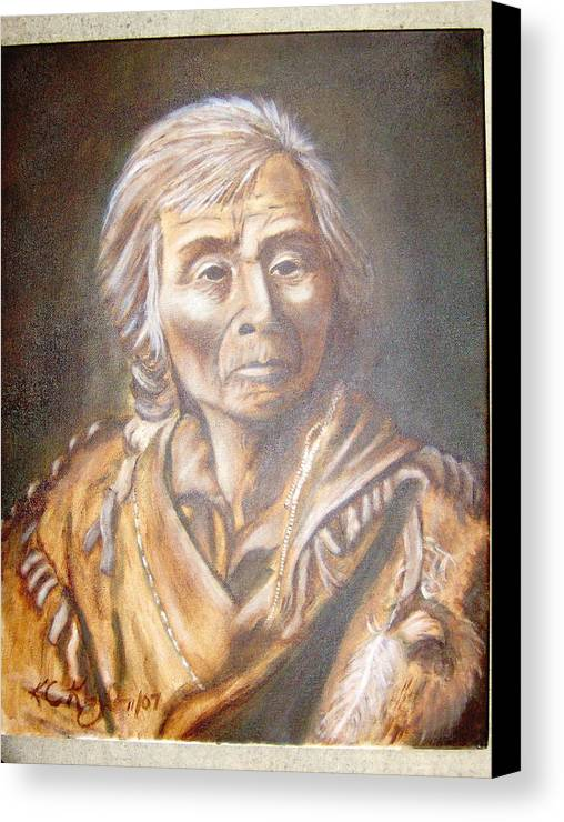 People Canvas Print featuring the painting Spoken Man by KC Knight
