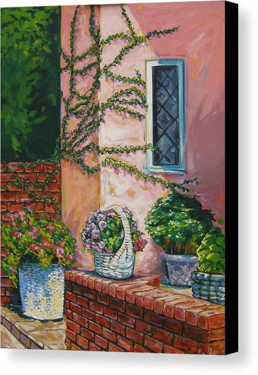 Pink Canvas Print featuring the painting Springtime by Karen Doyle