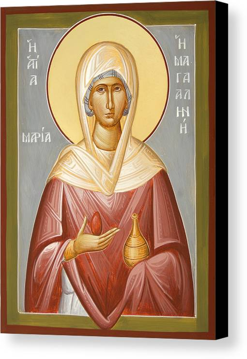 St Mary Magdalene Canvas Print featuring the painting St Mary Magdalene by Julia Bridget Hayes