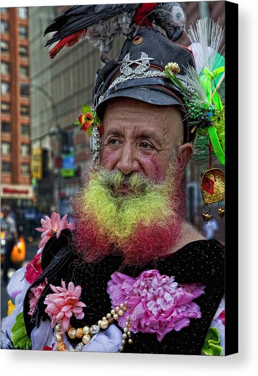 Street Performers Canvas Print featuring the photograph Street Performer Union Square Nyc by Robert Ullmann