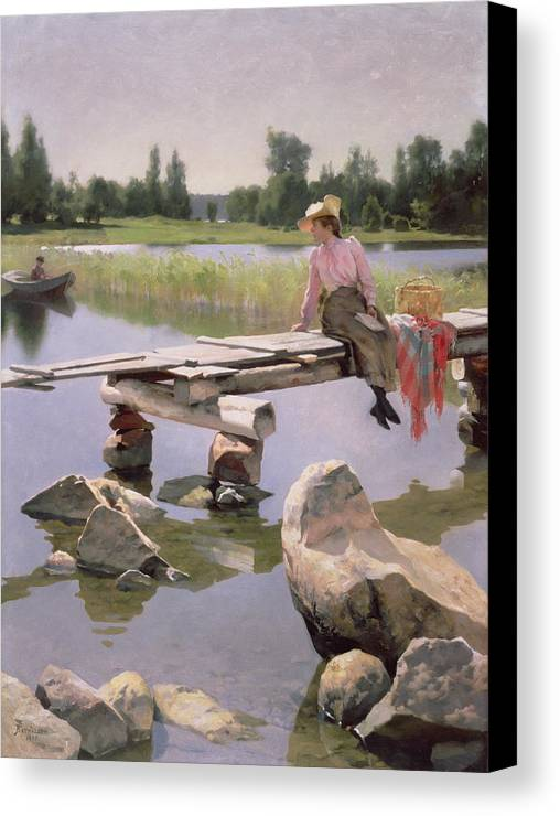 Summer Canvas Print featuring the painting Summer by Gunnar Berndtson
