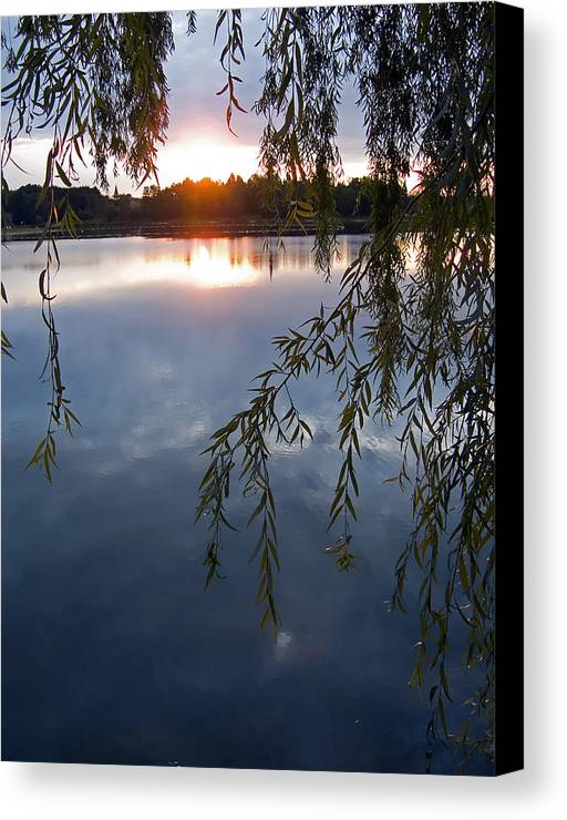 Nature Canvas Print featuring the photograph Sunset by Daniel Csoka