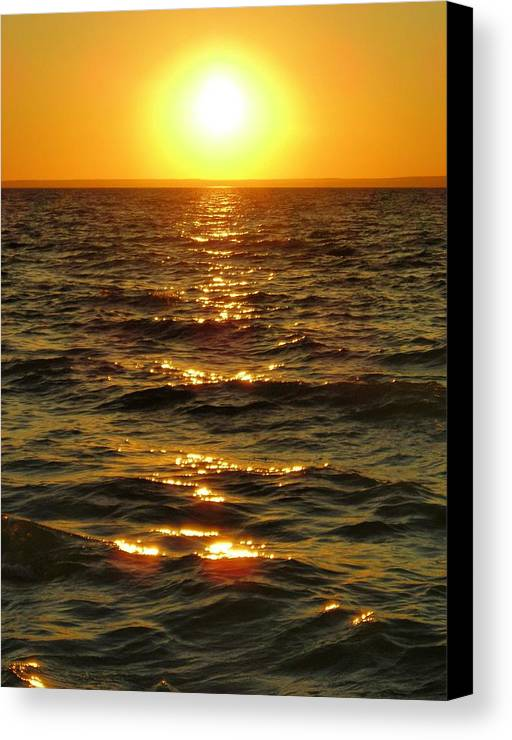 Sunset Canvas Print featuring the photograph Sunset by Peter Mowry