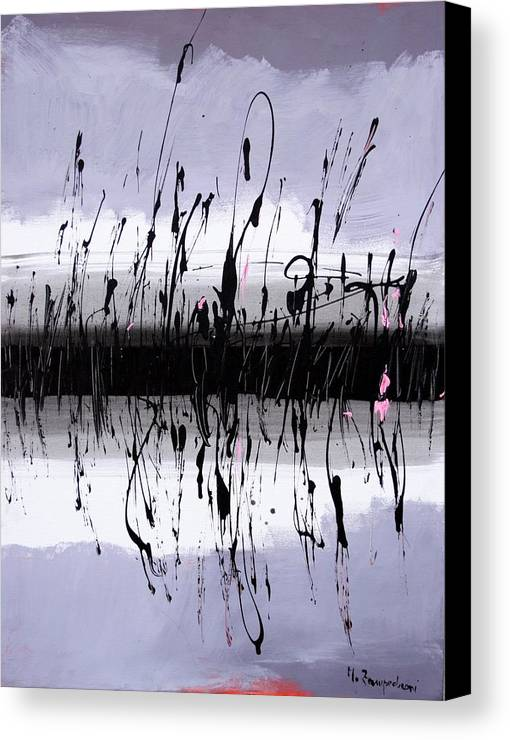 Swamp Canvas Print featuring the painting Swamp by Mario Zampedroni