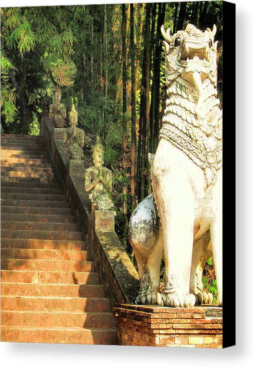 Temple Canvas Print featuring the photograph Temple Dog by Dominic Piperata