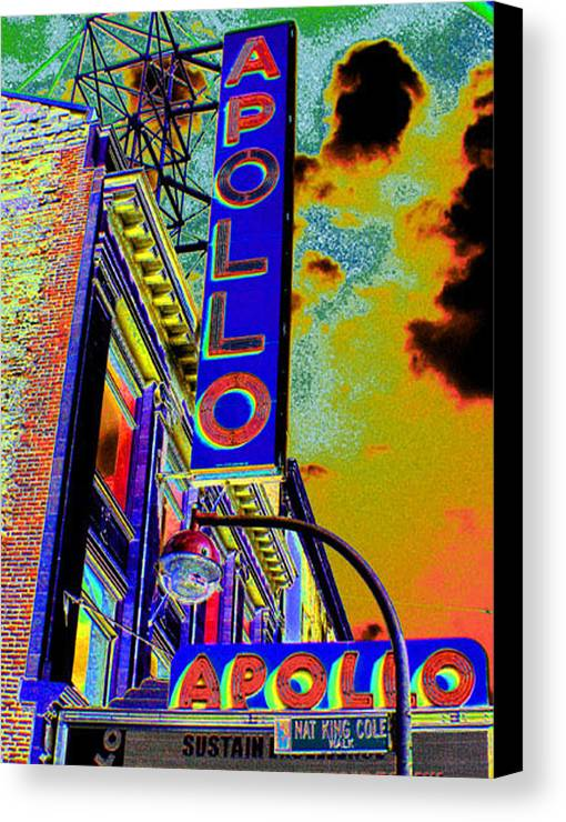 Harlem Canvas Print featuring the photograph The Apollo by Steven Huszar