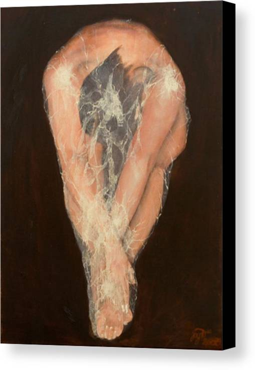 Figurative Canvas Print featuring the painting The Chrysalis by Jane Simpson