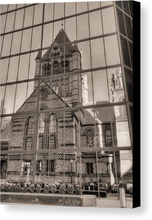 Boston Massachusetts Canvas Print featuring the photograph The Church by JC Findley