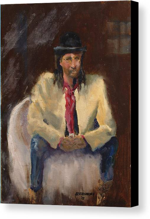 Figurative Canvas Print featuring the painting The Gambler by Bryan Alexander