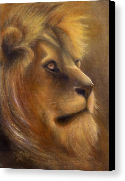 Regal Canvas Print featuring the painting The King by Elizabeth Silk