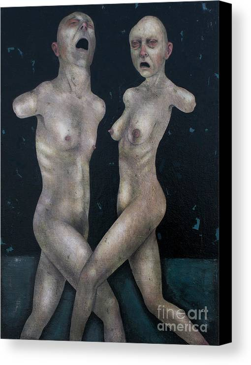 Dancing Canvas Print featuring the painting The Lovers by Craig LaRotonda