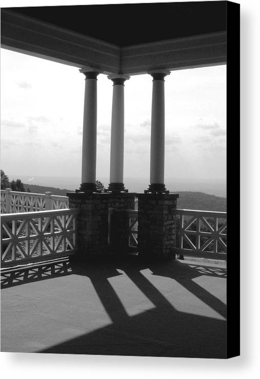Summer Canvas Print featuring the photograph The Porch by Evelynn Eighmey