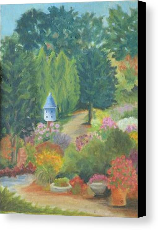 Landscape Canvas Print featuring the painting The Secret Garden by Paula Emery