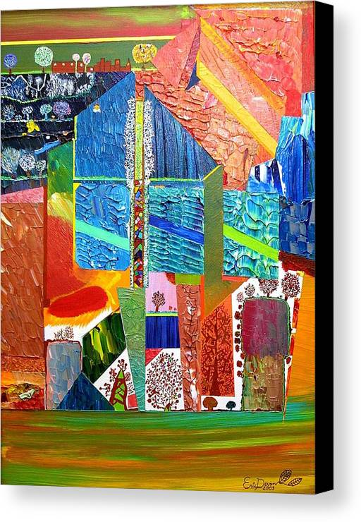 Underground Canvas Print featuring the painting The Secret Underground by Eric Devan