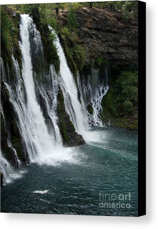 Tranquility Canvas Print featuring the photograph The Tranquility Of Waterfalls by Stephanie H Johnson
