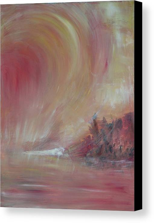 Abstract Canvas Print featuring the painting The Universe by Taly Bar