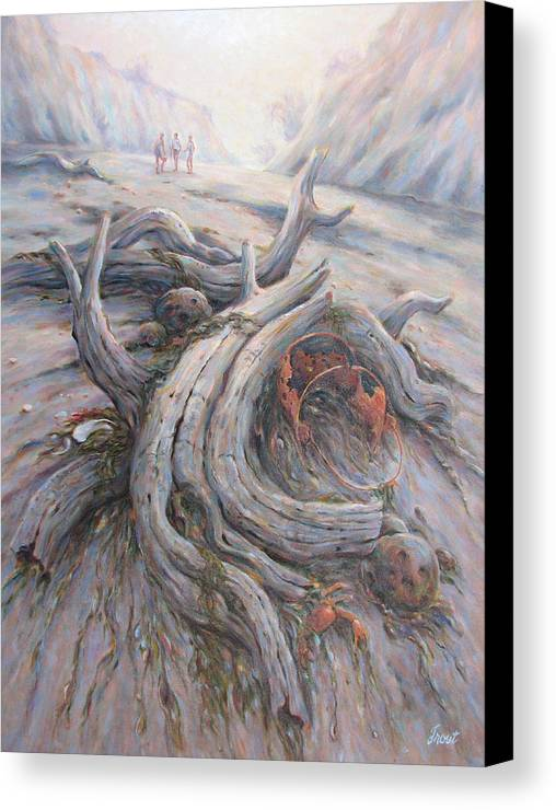 Early Morning Light Canvas Print featuring the painting Tide Is Out by Don Trout