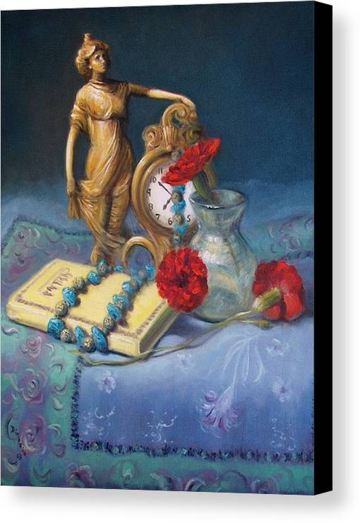 Realism Canvas Print featuring the painting Timekeeper by Donelli DiMaria