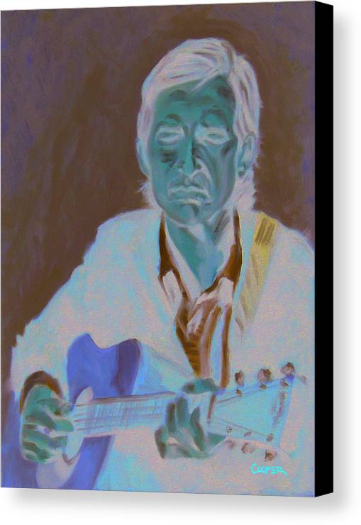Townes Van Zandt Oil Painting Portrait Guitar Songwriter Pancho Lefty Art Canvas Print featuring the painting Townes Van Zandt by Todd Cooper