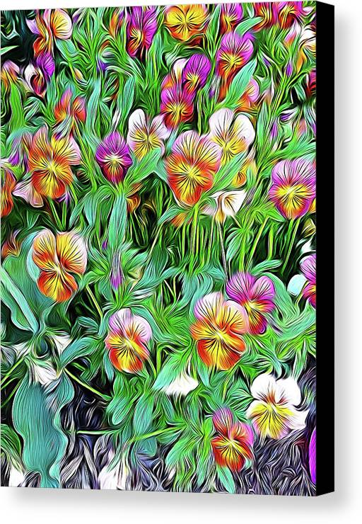 Flowers Canvas Print featuring the digital art Transcendentalia by Don Wright