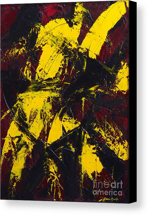 Abstract Canvas Print featuring the painting Transitions With Yelllow And Black by Dean Triolo