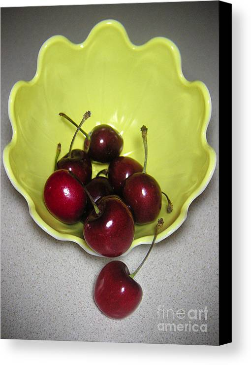 Nature Canvas Print featuring the photograph Tumbling Cherries by Lucyna A M Green