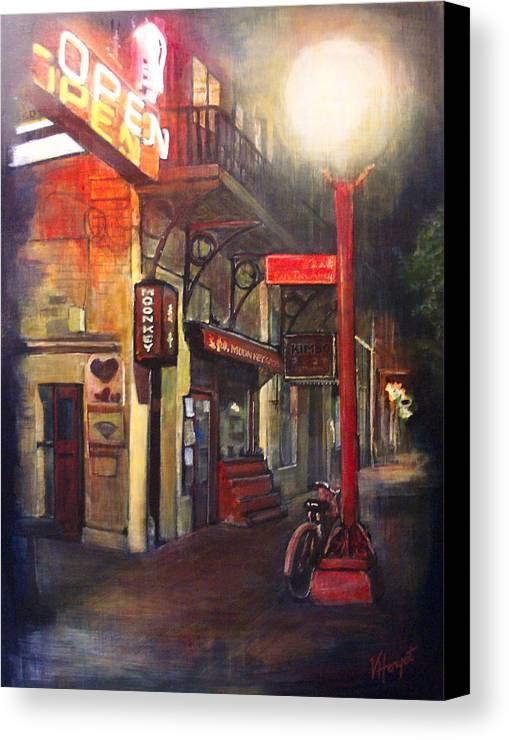 Chinatown Canvas Print featuring the painting Upstairs At Mrs. Woos by Victoria Heryet