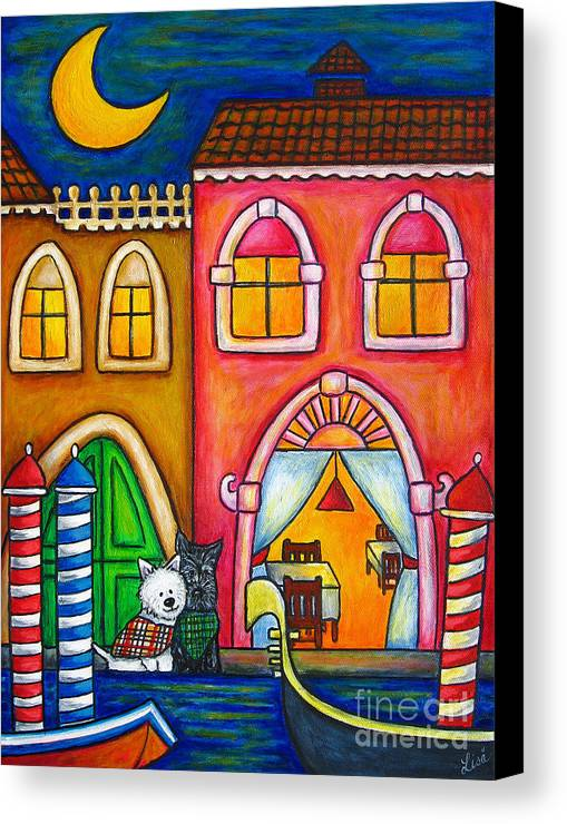 Venice Canvas Print featuring the painting Venice Valentine by Lisa Lorenz