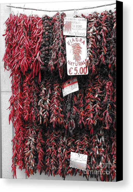 Red Canvas Print featuring the photograph Viagra Naturale by Jeff White