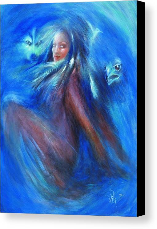 Vision Canvas Print featuring the painting Visions Of Awareness by Elizabeth Silk