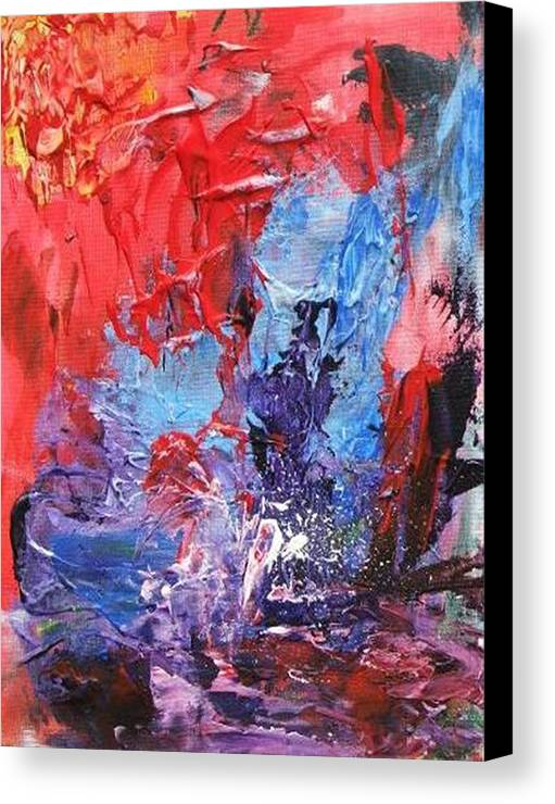 Water Canvas Print featuring the painting Water Sport by Bruce Combs - REACH BEYOND