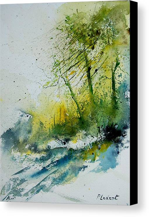 River Canvas Print featuring the painting Watercolor 181207 by Pol Ledent
