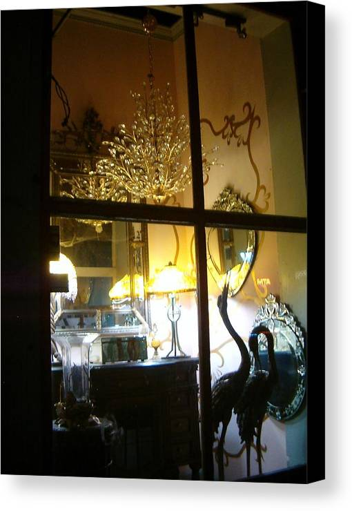 Widows Canvas Print featuring the photograph Window Shopping In The French Quarter by Heather S Huston