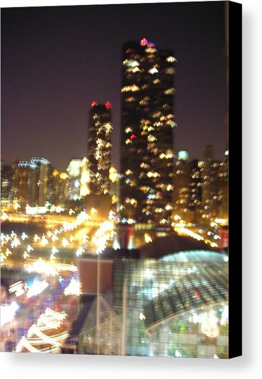 Chicago Canvas Print featuring the photograph Windy City by Peter Mowry