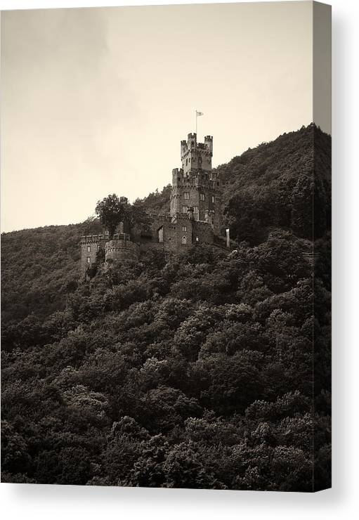 Alankomaat Canvas Print featuring the photograph Burg Sooneck Am Rhine by Jouko Lehto