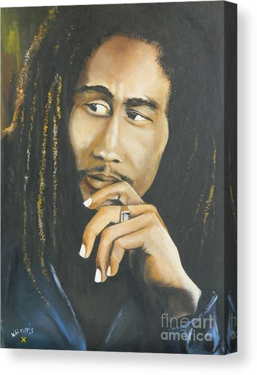 Jamaican Canvas Print featuring the painting Legend by Kenneth Harris