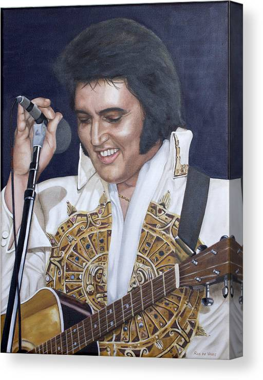 Elvis Canvas Print featuring the painting 77 Sundial by Rob De Vries