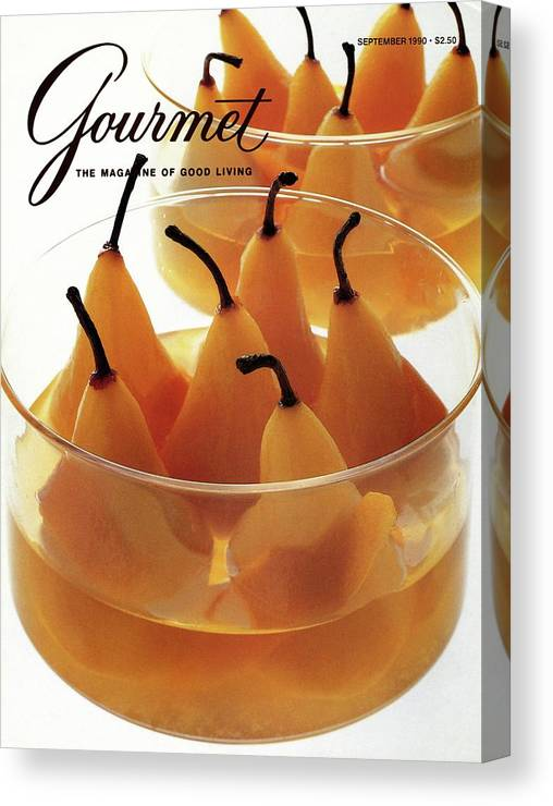 Food Canvas Print featuring the photograph A Gourmet Cover Of Baked Pears by Romulo Yanes