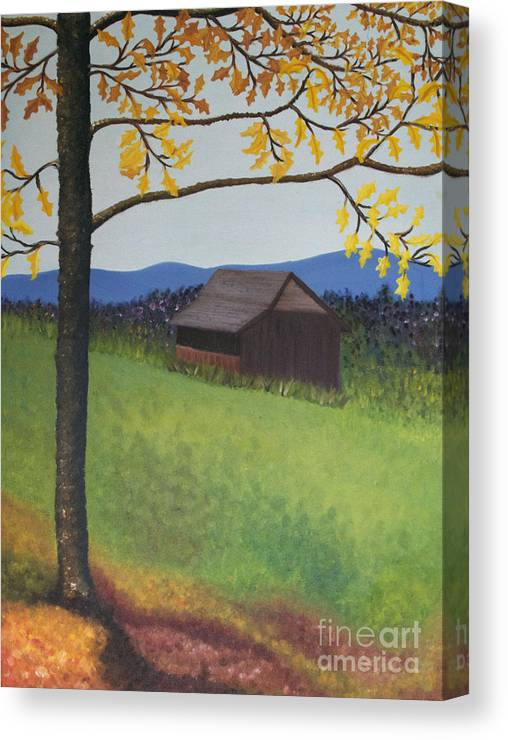 Autumn Canvas Print featuring the painting Autumn by Cecilia Stevens