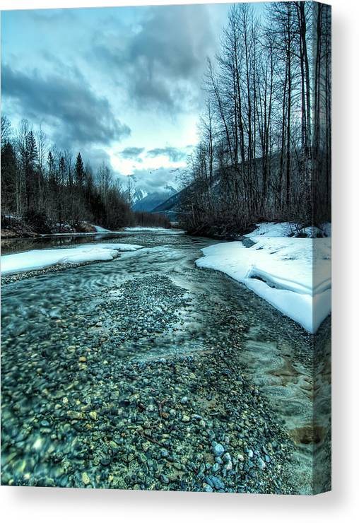 Beautiful Canvas Print featuring the photograph Blue Creek by James Wheeler