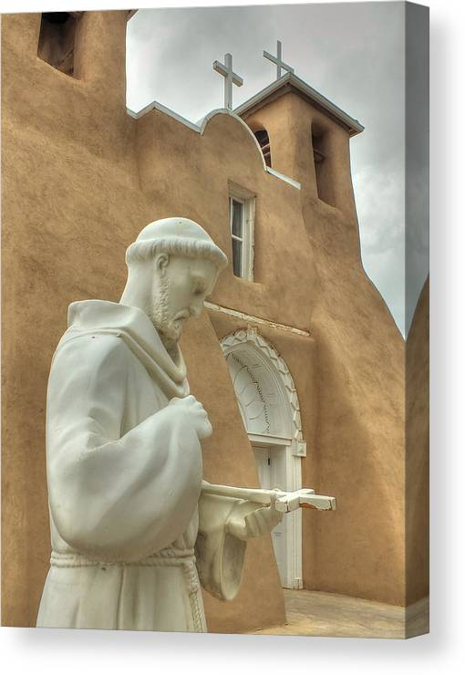 Catholic Canvas Print featuring the photograph Contemplation by Lucinda Walter