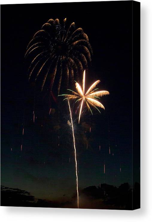 Fireworks Canvas Print featuring the photograph Fire Work by Devinder Sangha