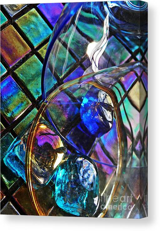 Abstract Canvas Print featuring the photograph Glass Abstract 690 by Sarah Loft