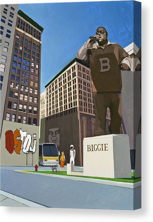 Astronaut Canvas Print featuring the painting If You Dont Know Now You Know by Scott Listfield